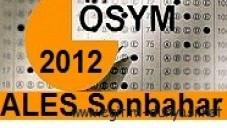 2012 ALES (Sonbahar) Başvuru,Sınav Tarihleri ve kılavuz