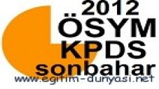 2012 KPDS (Sonbahar) Başvuru ve Sınav Tarihleri