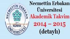 Necmettin Erbakan Üniversitesi Akademik Takvim 2014 2015