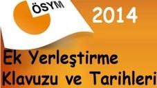 2014 LYS Ek Yerleştirme (Ek kontenjan) Tarihleri ve Kılavuzu