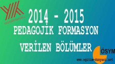 Formasyon Alabilen Bölümler 2015