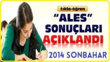 ALES Sonuçları Açıklandı (2014 Sonbahar Dönemi)