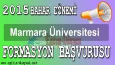2015  Marmara Üniversitesi Formasyon Duyurusu