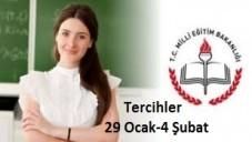 Öğretmen Atama Tercihleri 29 Ocak-4 Şubat 2015