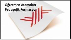 Türkiye'de Öğretmenlik ve Pedagojik Formasyon 2014-2015