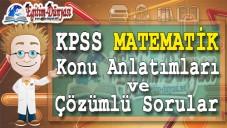 KPSS Matematik konu Anlatımları ve Çözümlü Sorular