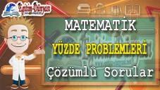 Yüzde Problemleri Çözümlü Sorular ve Formüller