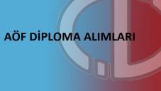 AÖF Diploma Nereden ve Nasıl Alınabilir