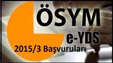 e-YDS 2015/3 İçin Başvurular Başlıyor
