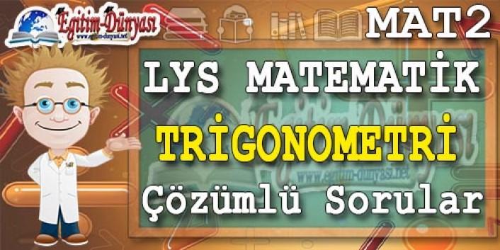Trigonometri Çözümlü Sorular ve Formüller