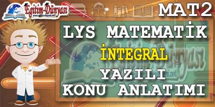 integral Konu Anlatımı Yazılı