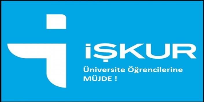 İŞKUR'dan Üniversite Öğrencilerine Müjde !