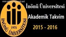 İnönü Üniversitesi Akademik Takvim 2015 2016
