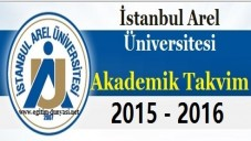 İstanbul Arel Üniversitesi Akademik Takvim 2015 2016