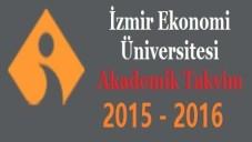 İzmir Ekonomi Üniversitesi Akademik Takvim 2015 2016