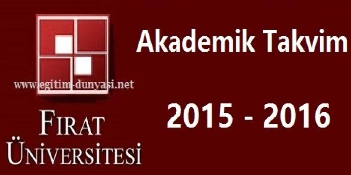 Fırat Üniversitesi Akademik Takvim 2015 2016