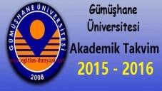 Gümüşhane Üniversitesi Akademik Takvim 2015 2016