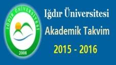 Iğdır Üniversitesi Akademik Takvim 2015 2016