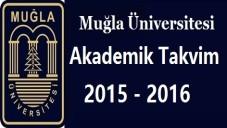 Muğla Üniversitesi Akademik Takvim 2015 2016