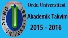 Ordu Üniversitesi Akademik Takvim 2015 2016