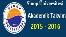 Sinop Üniversitesi Akademik Takvim 2015 2016