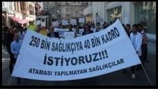 Atanamayan Sağlıkçılardan Dikkat çekici Protesto