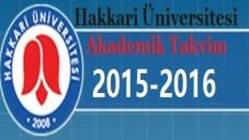 Hakkari Üniversitesi Akademik Takvim 2015 2016