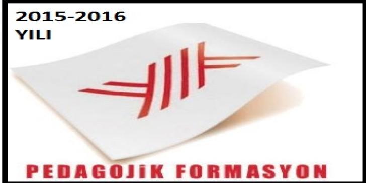 2015-2016 Pedagojik Formasyon Başvuru Tarihleri Ne Zaman?