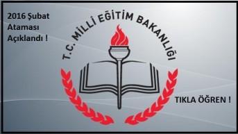 2016 Şubat Ataması Kontenjanları Belirlendi. Tıkla Öğren