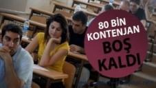 ÜNİVERSİTE YERLEŞTİRMELERİNDE 80 Bin KONTENJAN BOŞ KALDI