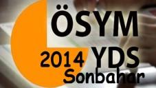2014 YDS Başvuru, Sınav Ücreti ve Kılavuz