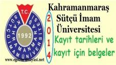 Kahramanmaraş Üniversitesi Kayıt tarihi belgeler 2014