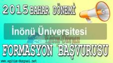 2015 İnönü Üniversitesi Formasyon Başvuru