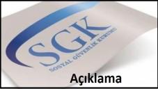 SGK'dan Borç Açıklaması 2015