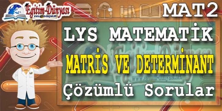 Matris Determinant Çözümlü Sorular ve Formüller