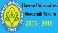 Harran Üniversitesi Akademik Takvim 2015 2016