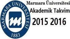 Marmara Üniversitesi Akademik Takvim 2015 2016