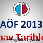 Açıköğretim Sınav Tarihleri 2012 2013