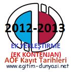 Anadolu Üniversitesi (AÖF) Ek Yerleştirme ile kayıt ve gerekli evraklar