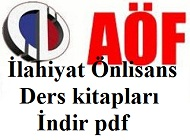 2012-2013 AçıkÖğretim (AÖF) İlahiyat Önlisans ders Kitapları İndir (PDF)