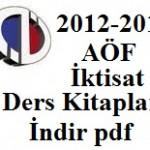 2012-2013 AçıkÖğretim (AÖF) İktisat ders Kitapları İndir (PDF)