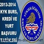 2013-2014 Burs, Öğrenim Kredisi ve Yurt başvuru tarihleri ile şartları